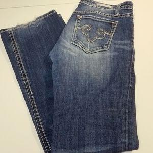 Express Jeans - 8R Rerock By Express Demin Jeans Bootcut Blue